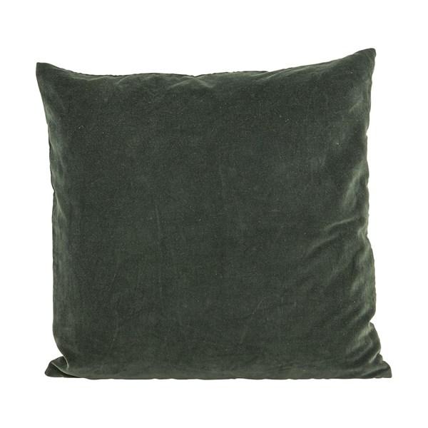 House Doctor Velv Kuddfodral 100% Bomull 50x50 cm Beluga grön
