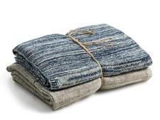 Södahl Essential Handduk stickad Bomull 40 x 60 cm Indigo 2-pack