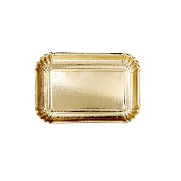 Rice Papperstallrikar 6-pack 16.5x24 cm Guld (guld) - tallrikar & skålar
