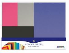 Värjätyt paperit 195 arkkia 15 väriä