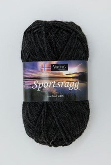 Viking of Norway Sportsragg Garn Ullmix 50g Koksgrå 517