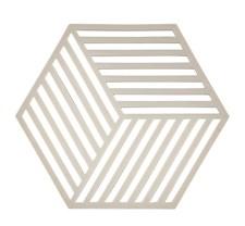 Zone Hexagon Grytunderlägg 14x16 cm Silikon Varmgrå