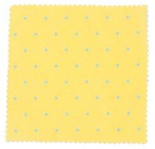 Stoff Prikker Gul/Blå 50/160 cm