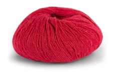 Knit At Home Superfine Alpacka Merino Garn Ullmix 50 g Röd 126