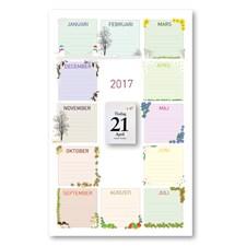 Väggkalender 2017 Årets Almanacka Burde