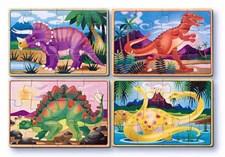Dinosaurier, 4 Pussel-i-låda, Melissa & Doug