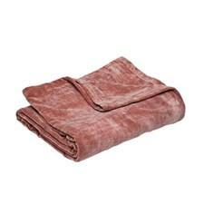Veluurihuopa vaaleanpunainen 130x170 cm