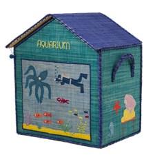 House toy Basket, Medium, Turkos, Rice