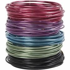 Bonzaitråd, tykkelse 3 mm, ass. farger, 5x5m