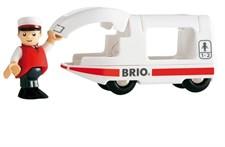 Matkustajajunan veturi ja kuljettaja, Brio-puurautatie