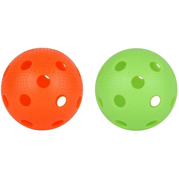 Innebandyboll EXS  Stiga 2-pack gul grön - sportleksaker