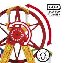 Pariserhjul, fornøyelsespark, BRIO tretog