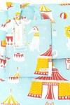 Majvillan Majvillan Cirkus Påslakanset Vagn & Vagga Ekologisk Bomull 70x80 + 28x35 cm Blå