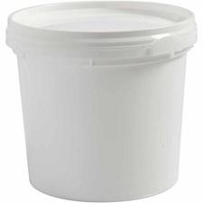 Plastbøtte med lokk, H: 9,5 cm, 9,2 cm, 20 stk.