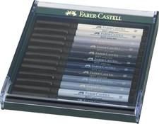 Soft Brush Pen Pitt Artist Faber-Castell Gave-etui 12 St Gråtoner