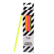 Fargeblyanter Neon Adlibris 6 farger
