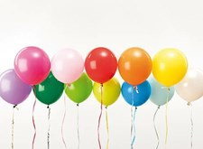 Ballonger, Rico, 30 cm, Mixade färger, 12 st.