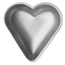 Mørdeigsformer, 6-pack, Hjerte, Sølv, GastroMax