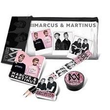 Gjennomsiktig pennal med innhold, Marcus & Martinus
