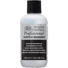 Professional Akryyliväliaine Slow Drying Medium Winsor & Newton 125 ml