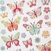 Klistermärken Metallic Fjärilar 1 Ark