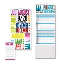 Väggkalender 19-20 Burde Familjekalender TrendArt