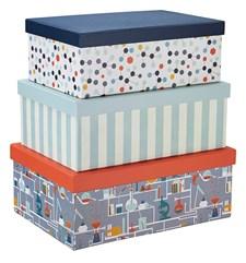 3-pack förvaringsboxar Poppy, Multi, Kids Concept