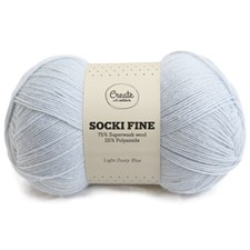 Adlibris Socki Fine 100g Light Dusty Blue A145