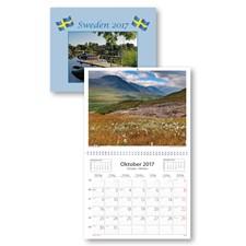 Väggkalender 2017 Sweden med kuvert Burde