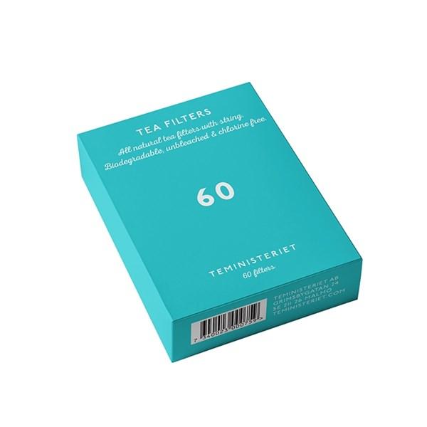 Teministeriet oblekta Tepåsar 60 st Papper (natur) - kaffe & teberödning