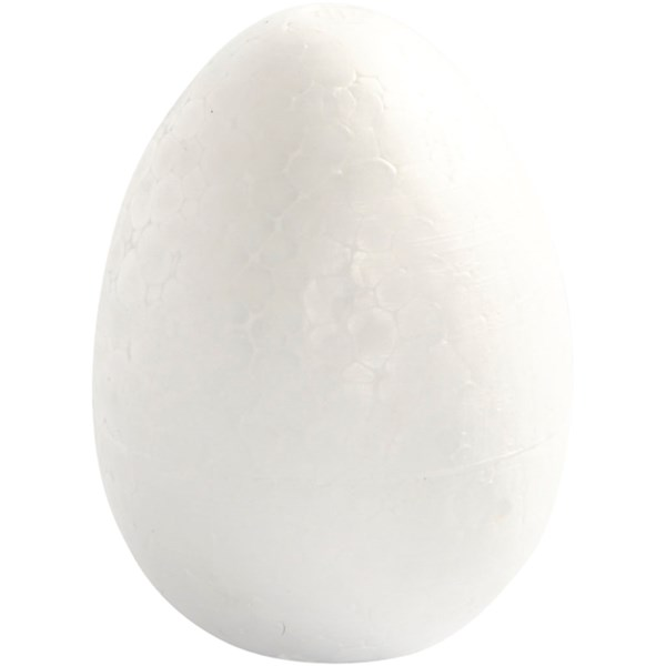 Egg, H: 8 cm, 5 stk., hvit