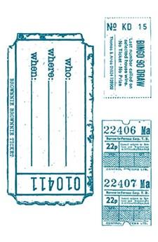 Stempel, silikon, Billetter, 10 x 18,5 cm