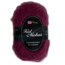 Viking of Norway Kid Mohair 50 gr kirsikka