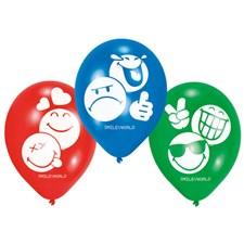 Emoji ballonger, 6 st