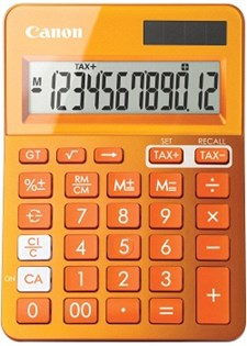 Minilaskin CANON LS-123K oranssi