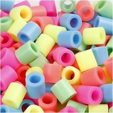 Rörpärlor 10x10 mm 550 st Pastellfärger