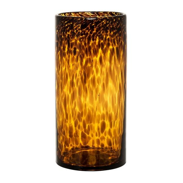 Bloomingville Vas Glas Diameter 12 cm  Höjd 25 cm Brun