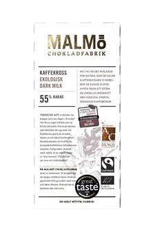 Malmö Chokladfabrik Tegelserien Choklad Kaffekross 56% 80 g (14546)