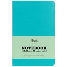 Adlibris pocket notatbok, Karibisk blå, linjert A6