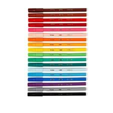 Tuschpennor Fin 1,6 mm 18 Färger
