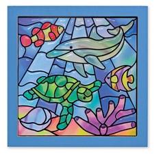 "Peel & Press, ""Glassmaleri"", Hav, Melissa & Doug"