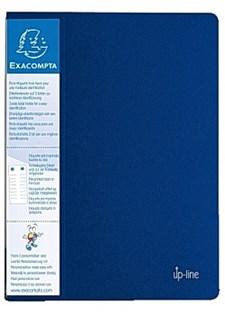 Demobok EXACOMPTA 20 lommer blå