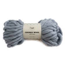 Adibris Chunky Wool Garn Dusty Blue 200g A006