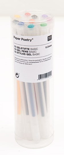 Gelpennor Basic 0,5 mm 10 st