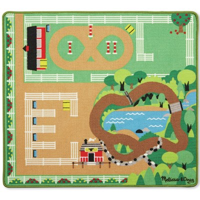 Around the Ranch Horse Rug  Melissa & Doug - barnmattor
