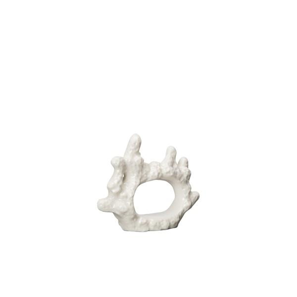 ByOn Coral Servettring D 6 cm Porslin Vit (hvit) - övrig servering