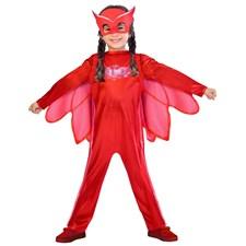 Maskeraddräkt Ugglis, 3-4 år, Pyjamashjältarna