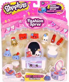 Best Dressed vaate-leikkipakkaus, Fashion Spree, Shopkins