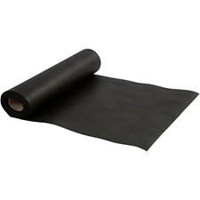 Bordløper av imitert stoff, B: 35 cm, 70 g/m2, 10 m, svart
