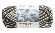 Novita Cotton Soft Color Bomullsgarn 50 g sten 890
